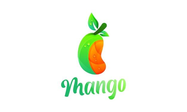 Манго современный градиент красочный логотип