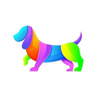 Собака современный логотип иллюстрация шаблон