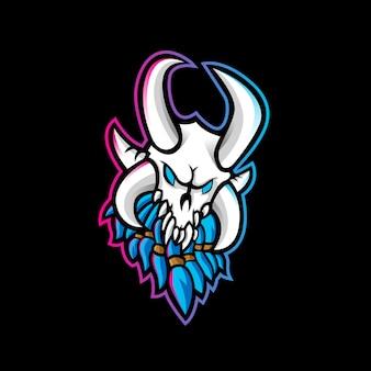 Логотип рагнарок череп