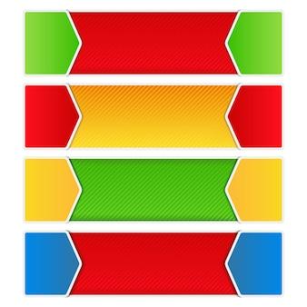 Цветной баннер фон набор