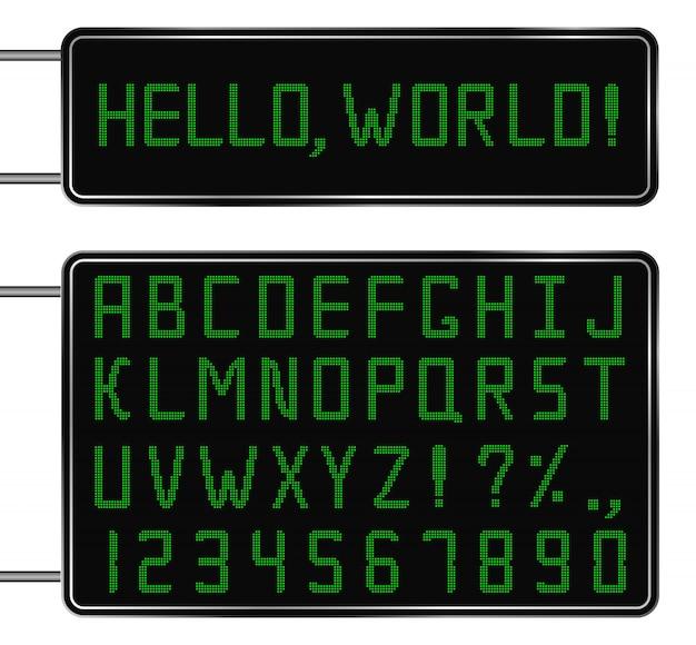 Цифровой шрифт