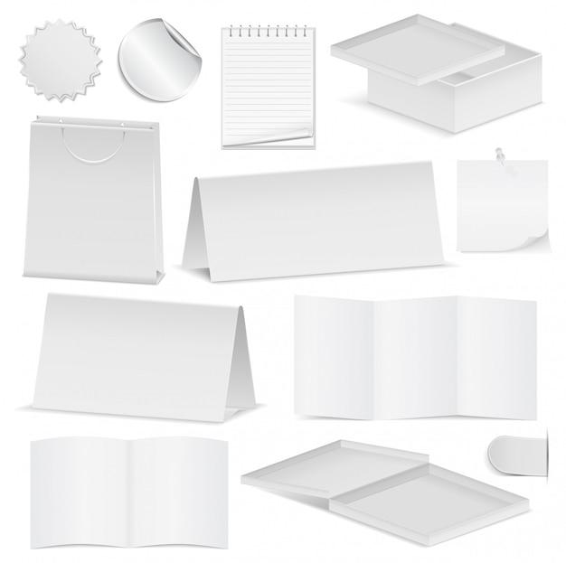 紙のオブジェクトのセット