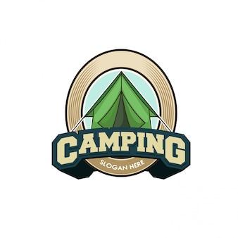 Шаблон логотипа кемпинг векторные иллюстрации