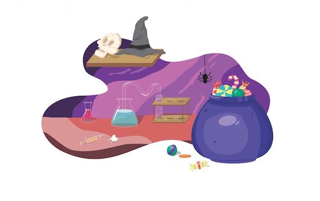 ハロウィンの背景