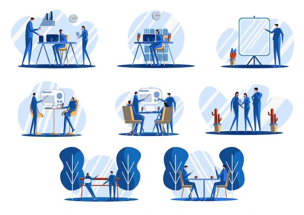 Иллюстрация офиса плоская