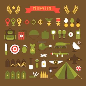 Набор иконок военных и военных
