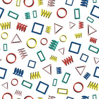 Мемфис геометрические бесшовные модели. абстрактные текстуры беспорядка. треугольник.