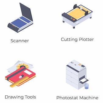 Печать изометрических векторов
