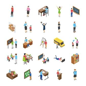 Пакет плоских иконок для студентов колледжей и университетов