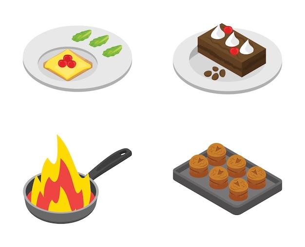 料理アイコンのバンドル