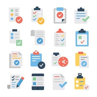 Пакет значков со списком проверенных задач