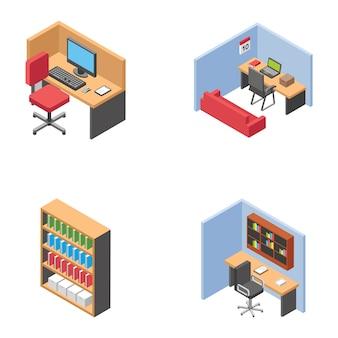 Пакет иконок офисных шкафов