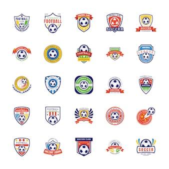 サッカーのロゴのベクトル