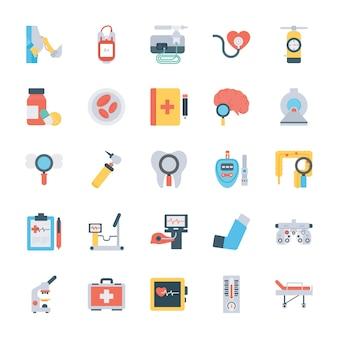 Медицинский осмотр плоские иконки