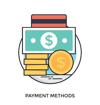 支払方法フラットベクトルアイコン