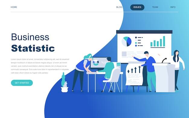 ビジネス統計の現代フラットデザインコンセプト