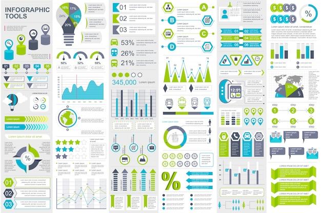 インフォグラフィック要素データ可視化ベクトルデザインテンプレート