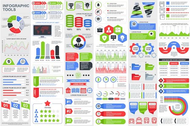 Инфографика элементы визуализации данных вектор дизайн шаблона