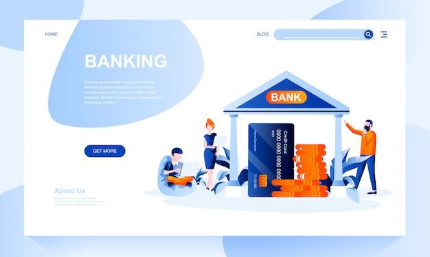 Шаблон банковской целевой страницы с заголовком