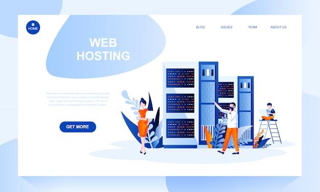Шаблон целевой страницы веб-хостинга с заголовком