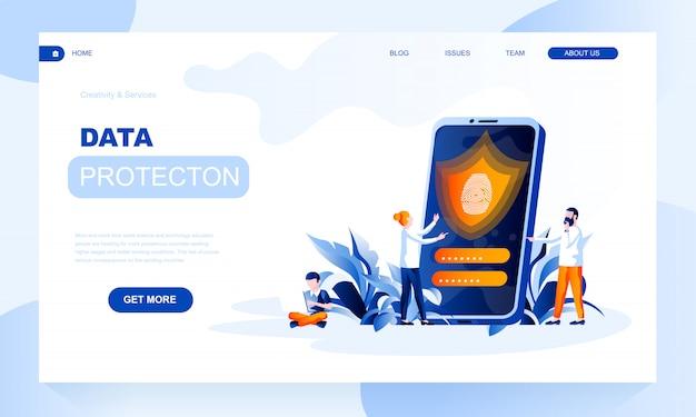 Шаблон целевой страницы защиты данных с заголовком