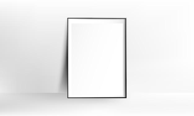 空白のポスターフレームリアルなモックアップ