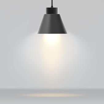 Современная лампа реалистично