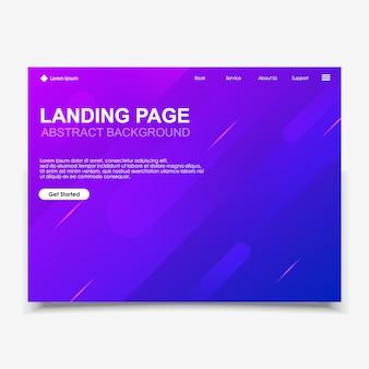 抽象的な背景のウェブサイトのランディングページ。