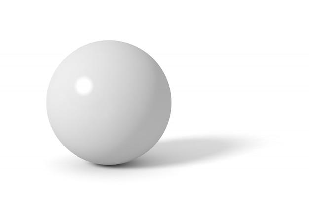 灰色の光沢のある球