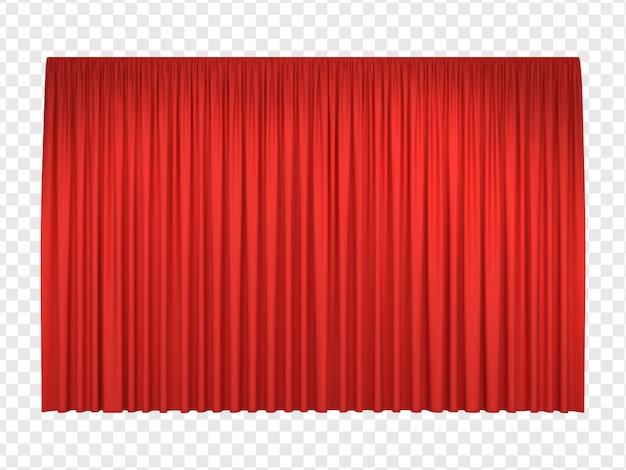 Реалистичные красные сценические шторы