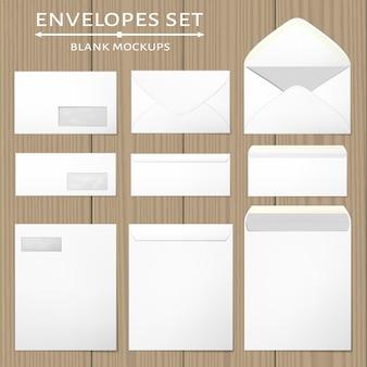 白い封筒セット。