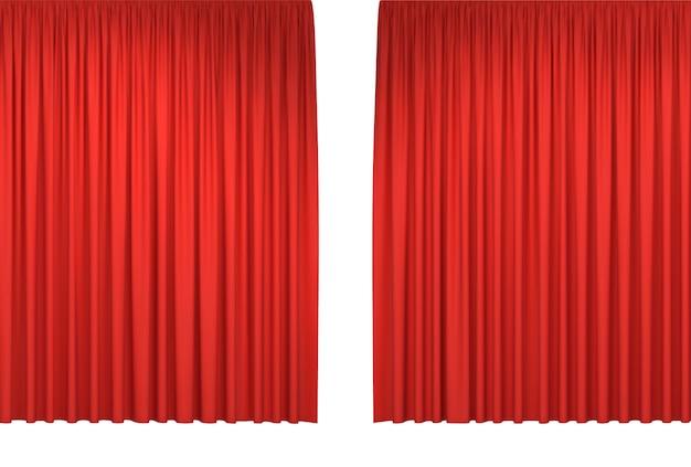 Красные сценические шторы