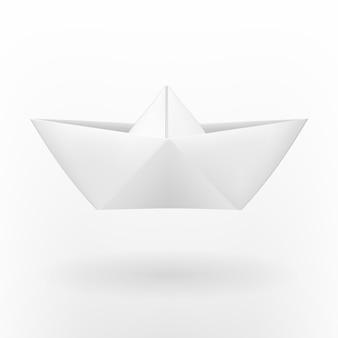 折り紙の紙の船。