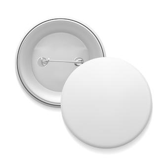 空白の白い丸ピン
