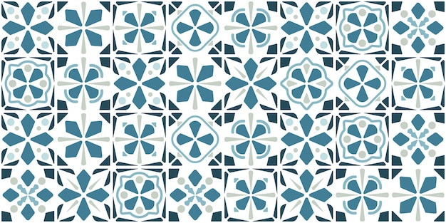 Синий дизайн плитки. этаж бесшовные модели