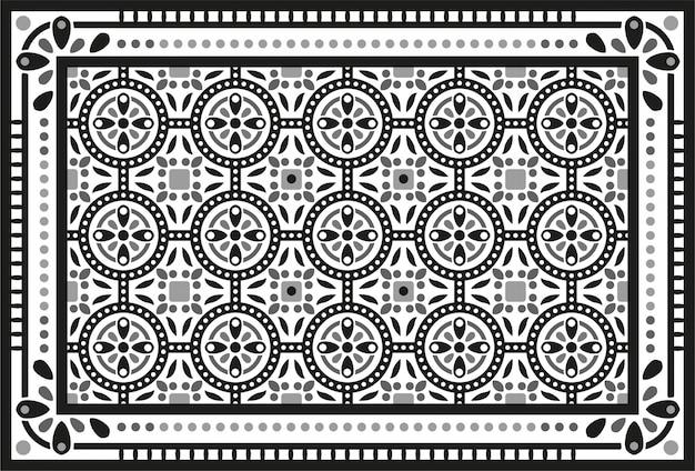 Декоративный геометрический рисунок плитки