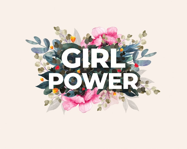 Международный женский день. женская сила. цветочный дизайн.