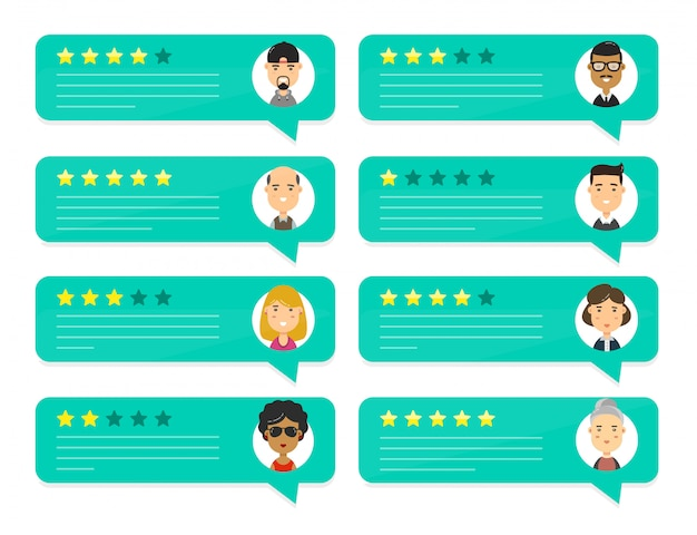 Обзор людей, оценивающих речи пузыря