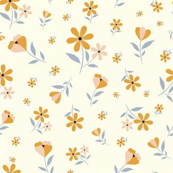 Симпатичные цветочные бесшовные
