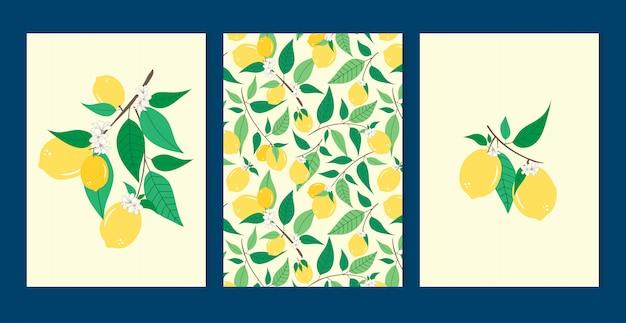 レモンセットのシームレスパターン