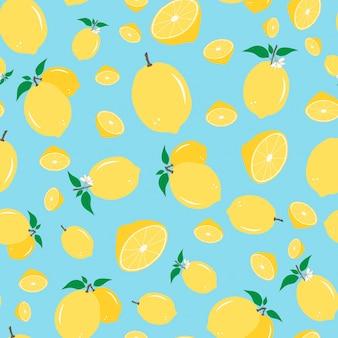 レモンのシームレスパターン