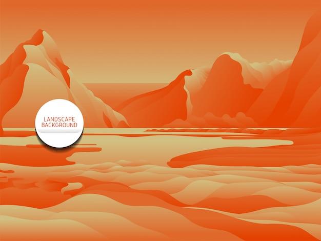 オレンジ色の風景の背景