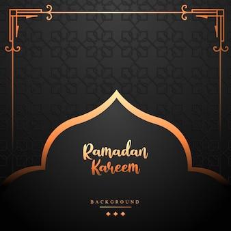 Рамадан карим исламский дизайн двери мечети иллюстрации к сезону рамадан и ид