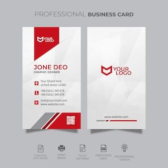 Вертикальный шаблон визитной карточки