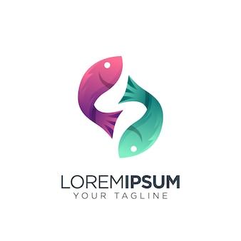 Логотип рыбы современный