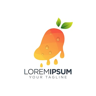 Логотип сока манго свежий