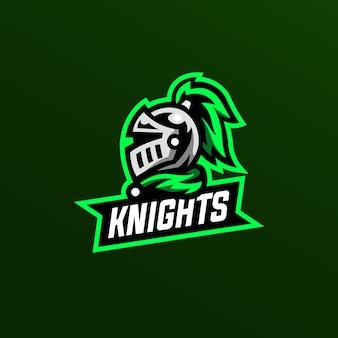 騎士のマスコットのロゴの図
