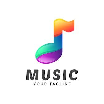 音楽ロゴモダンなグラデーション