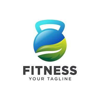 Свежий фитнес логотип современный