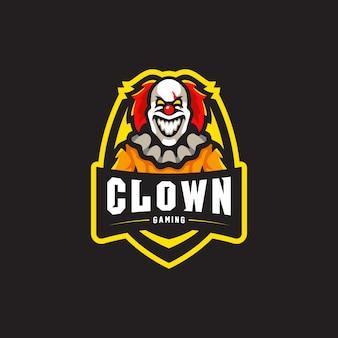Клоун талисман логотип игровой киберспорт иллюстрации